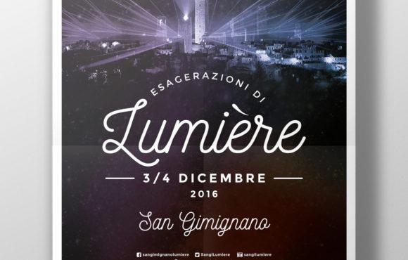 Materiale Pubblicitario Lumiere San Gimignano