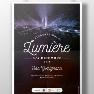 Realizzazione Manifesto Lumiere San Gimignano
