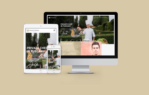 Immagine coordinata e Sito Internet Chef Alessio Sedran