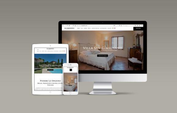 Sito Internet Villa Lo Spadino San Gimignano