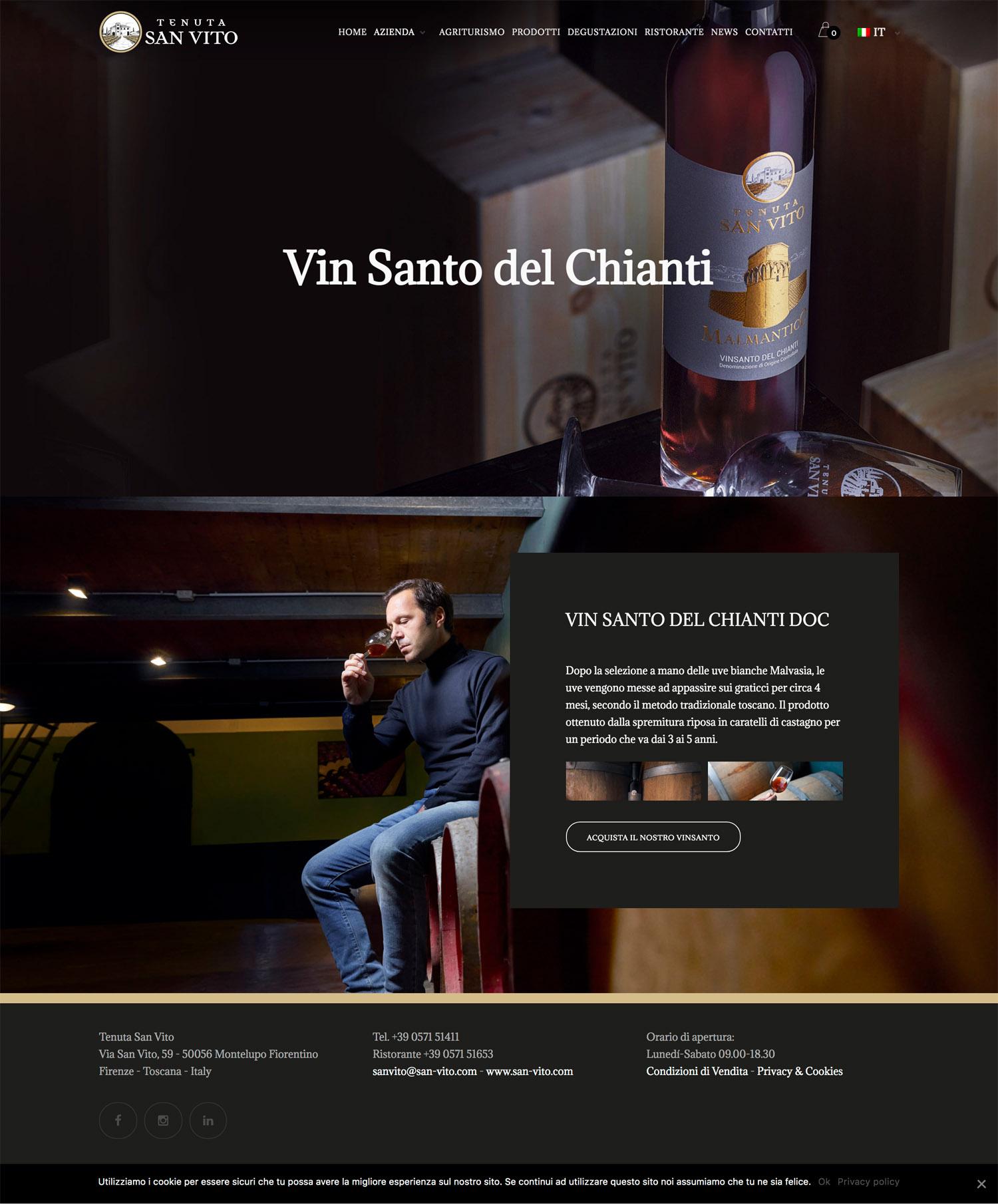 Sito Internet Ecommerce Vino Agriturismo Toscana San Vito